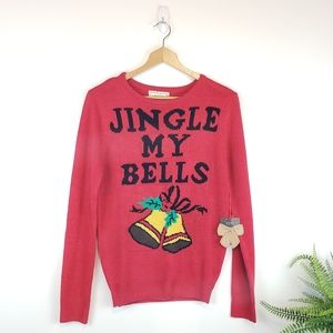 NWT Poof New York Jingle My Bell Christmas Sweater